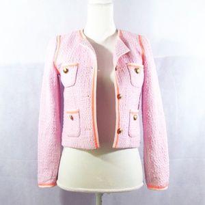 J. Crew ladylike blazer in soft pink and orange